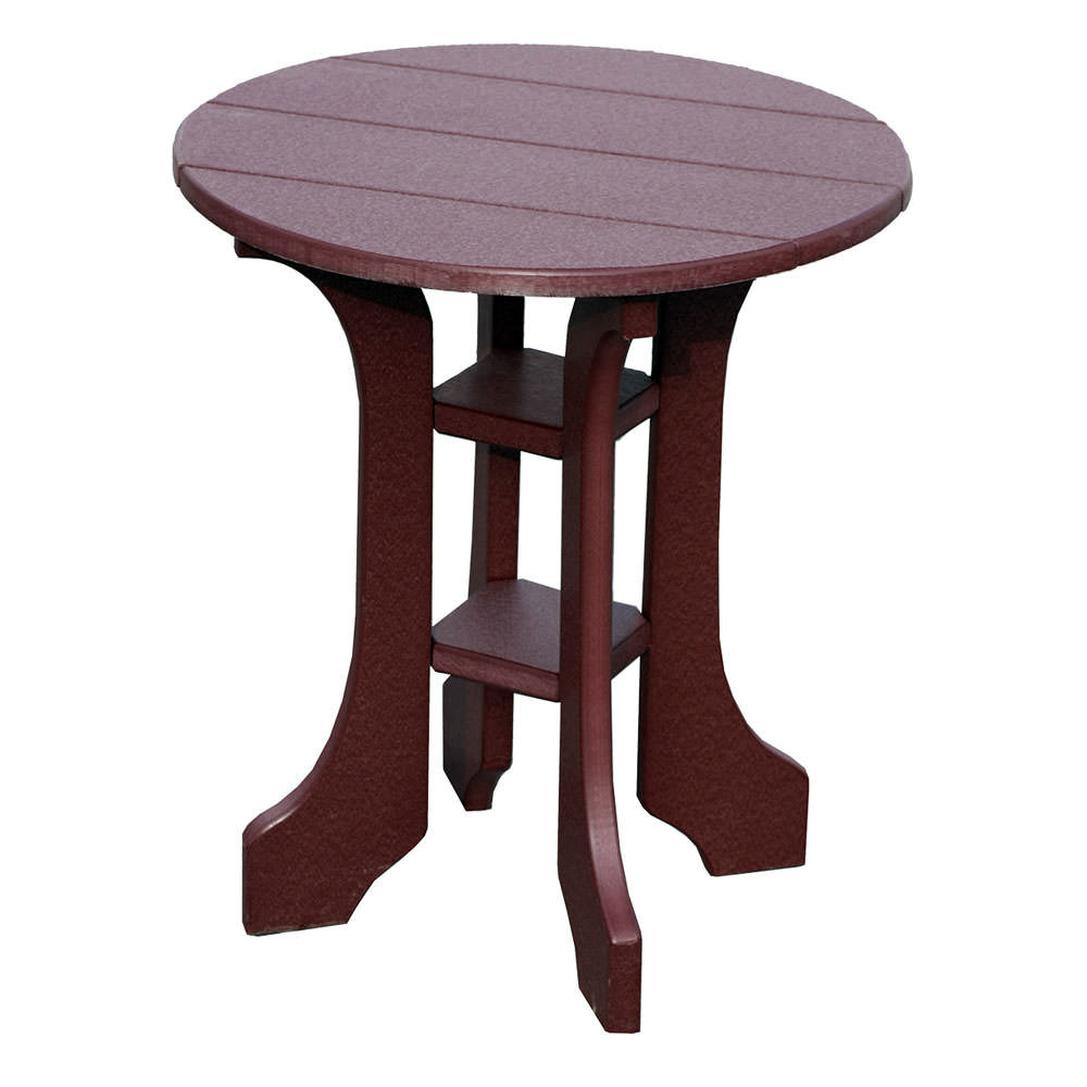"Amish Poly 20"" Round End Table"