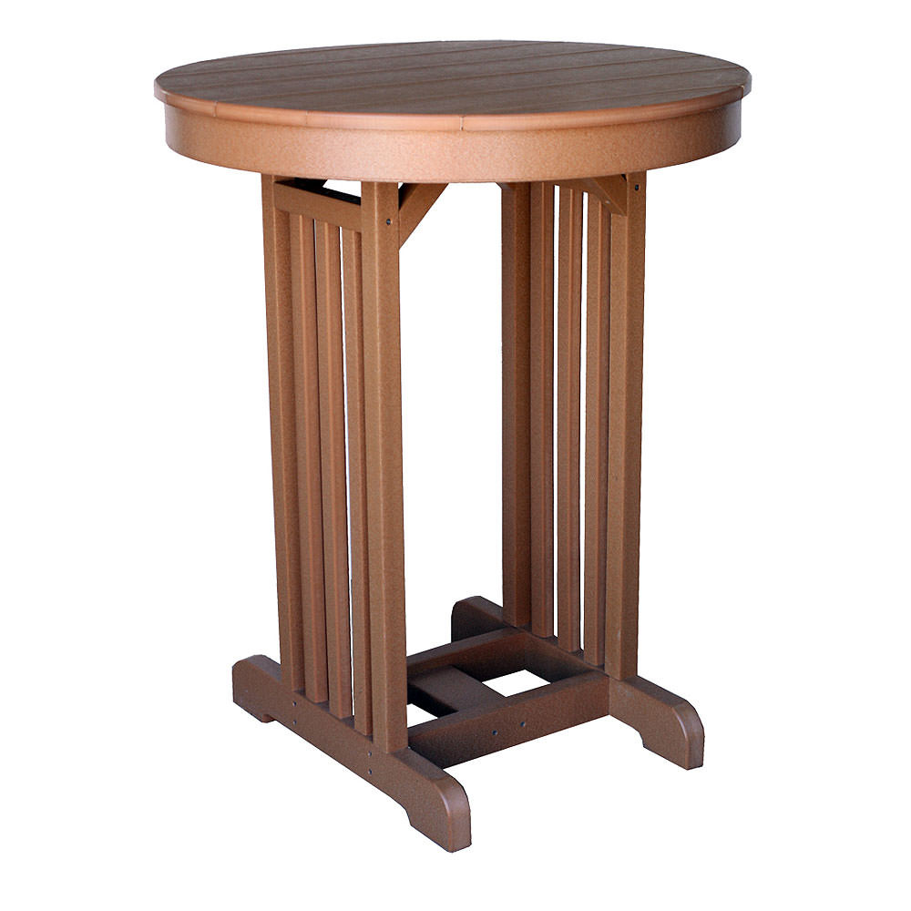 "Amish Poly Wood 33"" Round Pub Table"