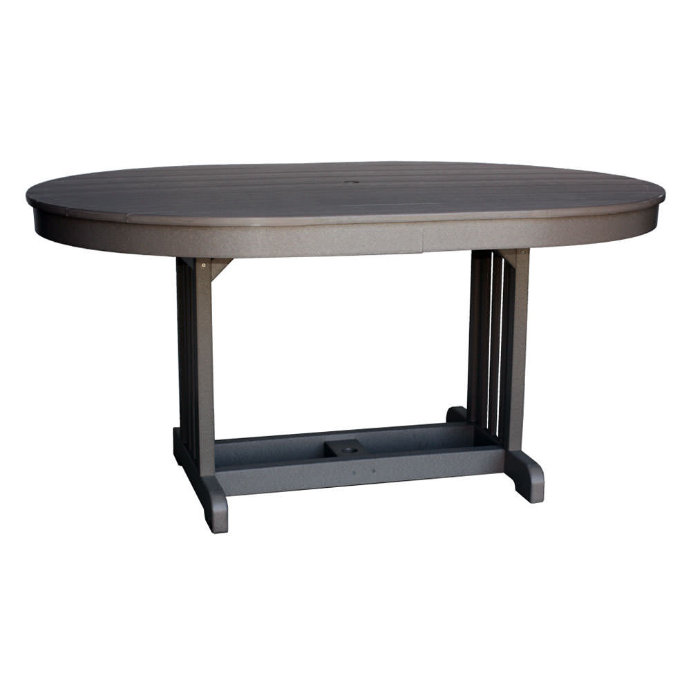 "Amish Poly 44""x 62"" Oval Table"