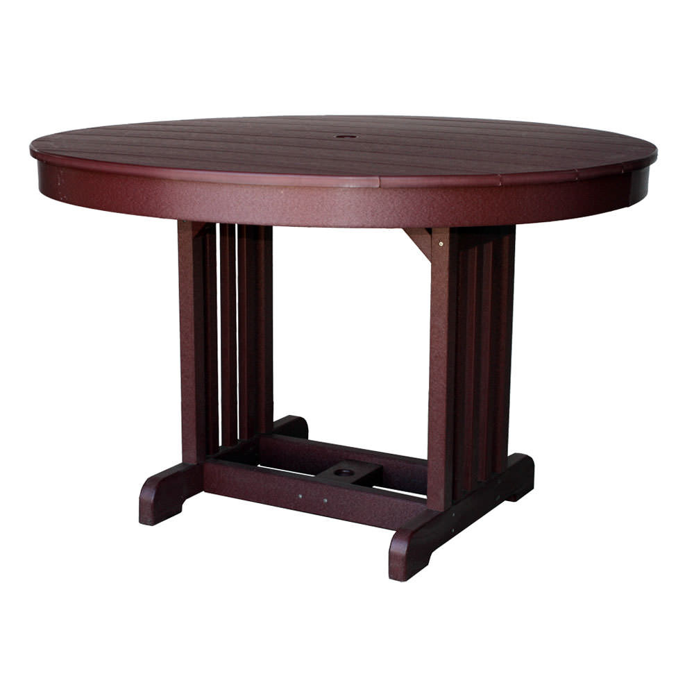 Amish Poly 48 in Round Table