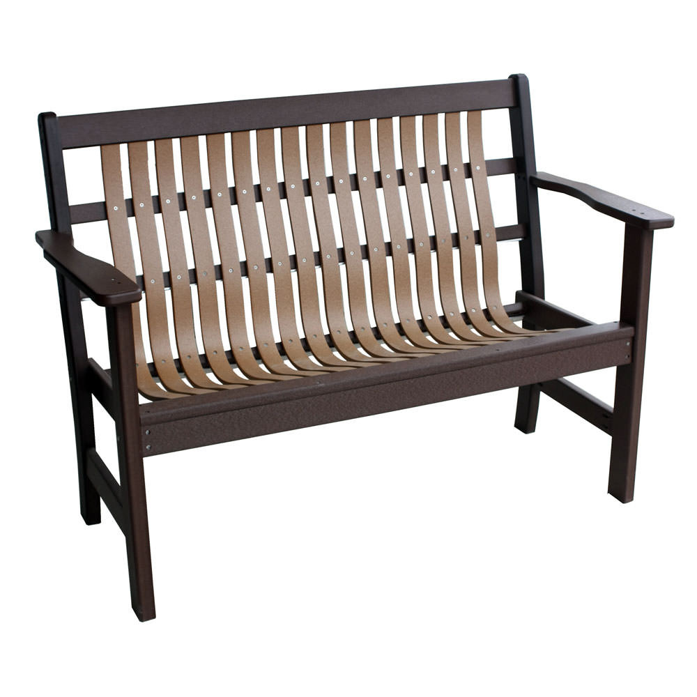 Amish Poly 4' Polybent Garden Bench