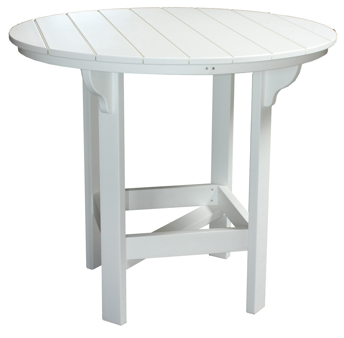 Amish Poly 48in Round Bar Table