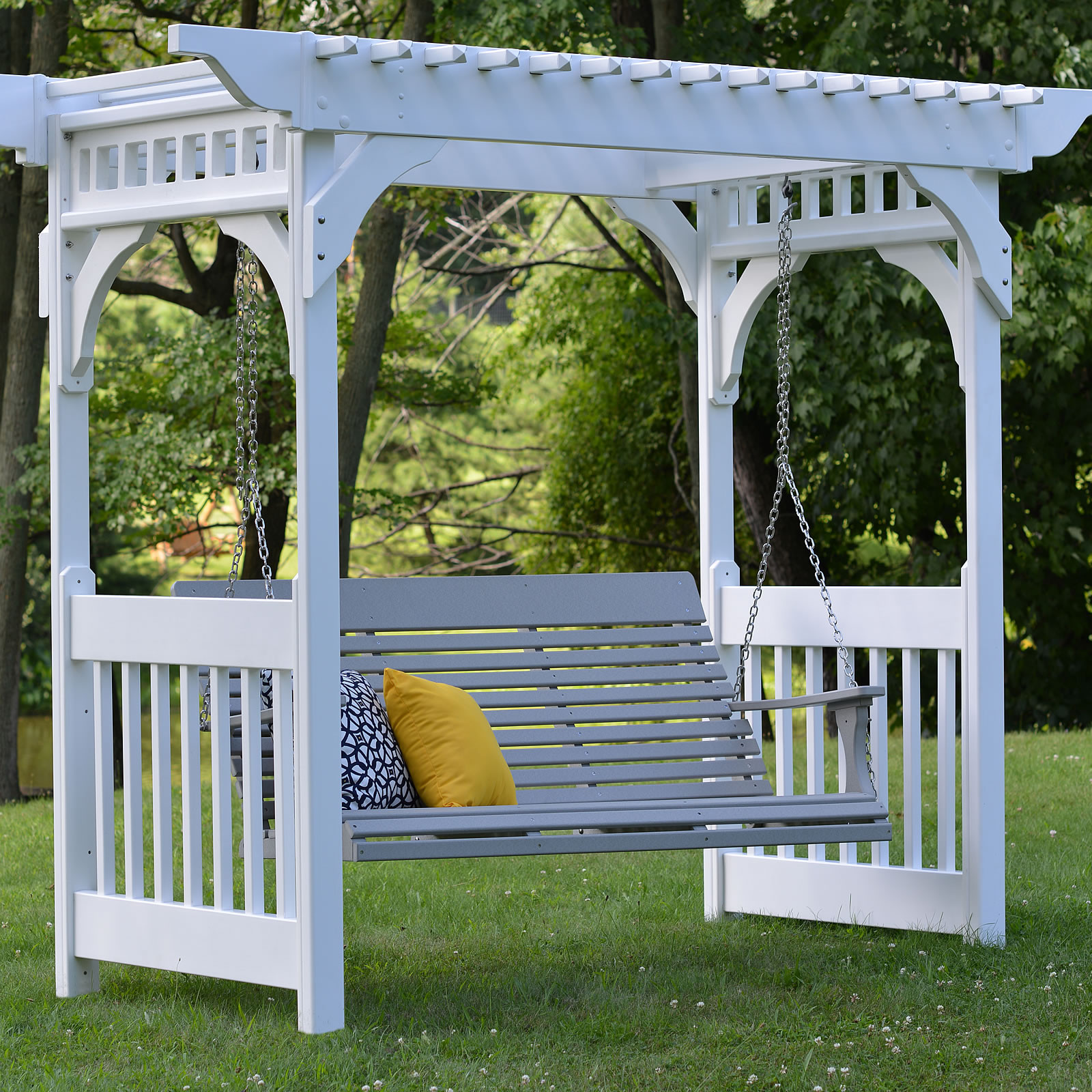 Arbor sold with ground or concrete anchor