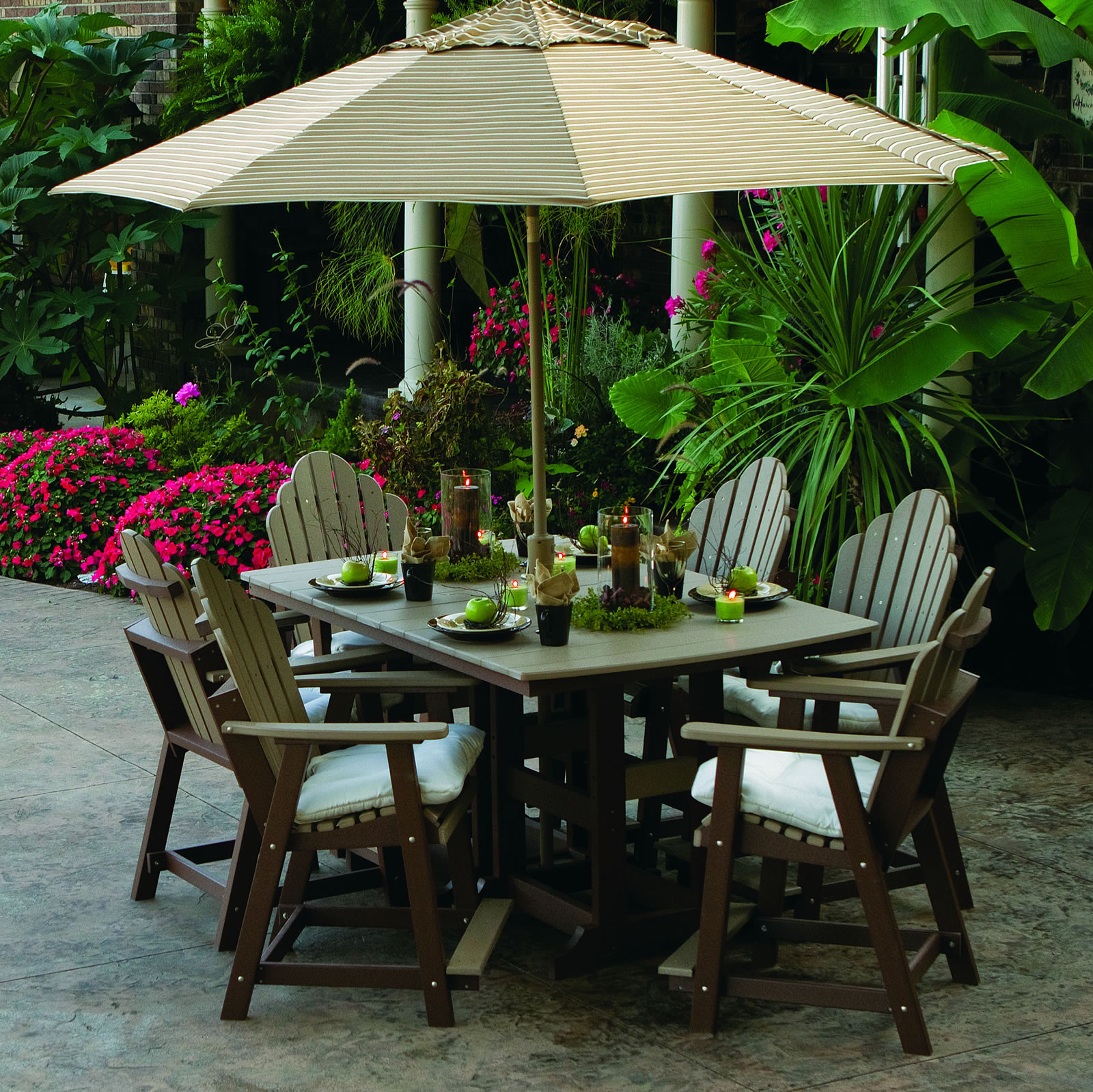 Berlin Gardens Iris Garden Classic Counter Dining Set Berlin Gardens Poly Furniture