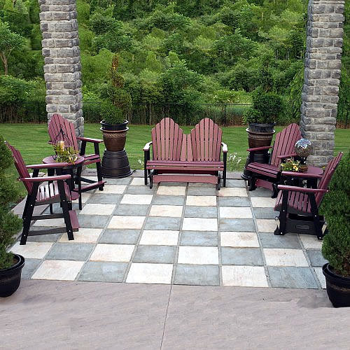 Berlin Gardens Cozi-Back Patio Seating Set