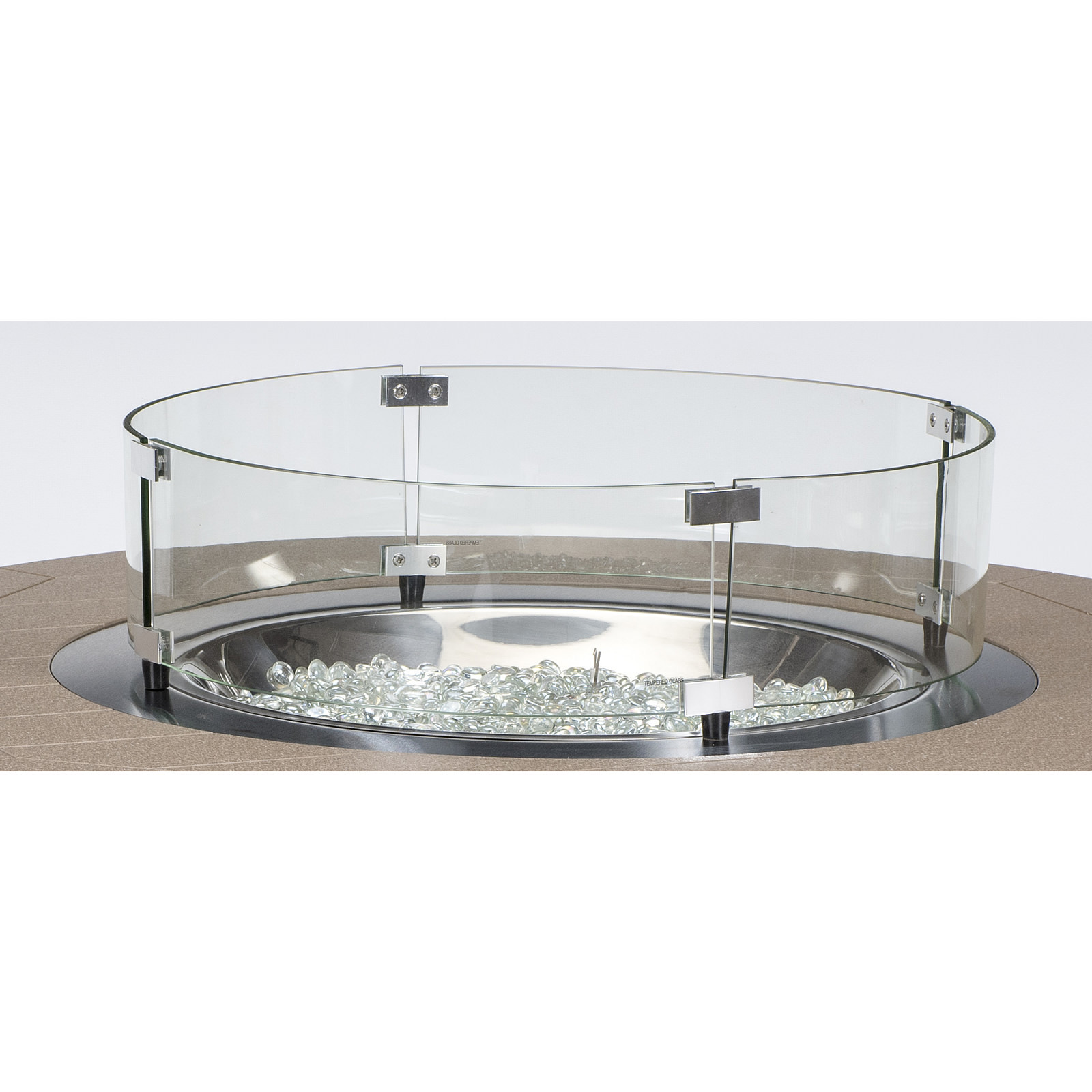 Berlin Gardens 20-R Round Glass Wind Guard