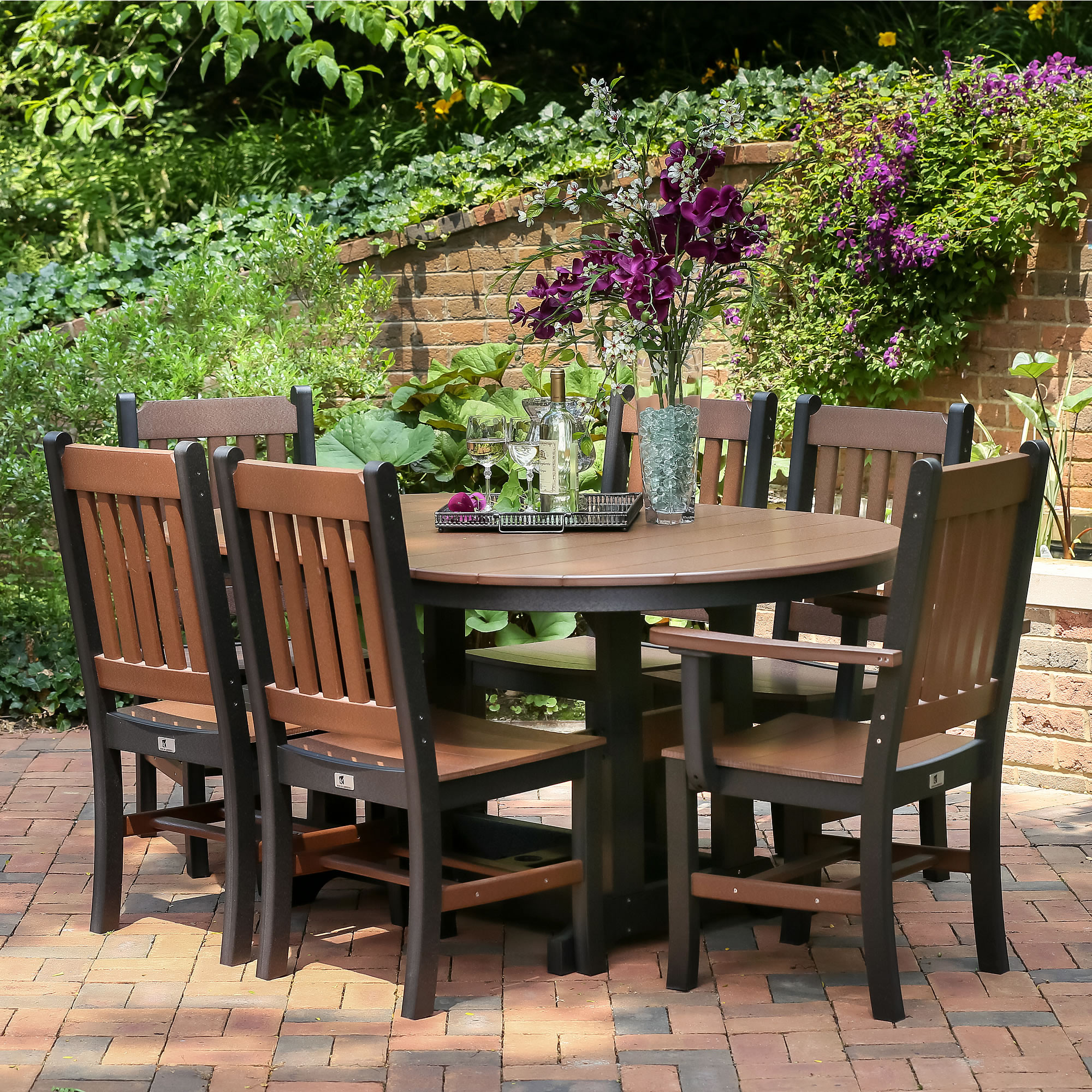 Berlin Gardens Oblong Mission Dining Set Garden Mission Chairs