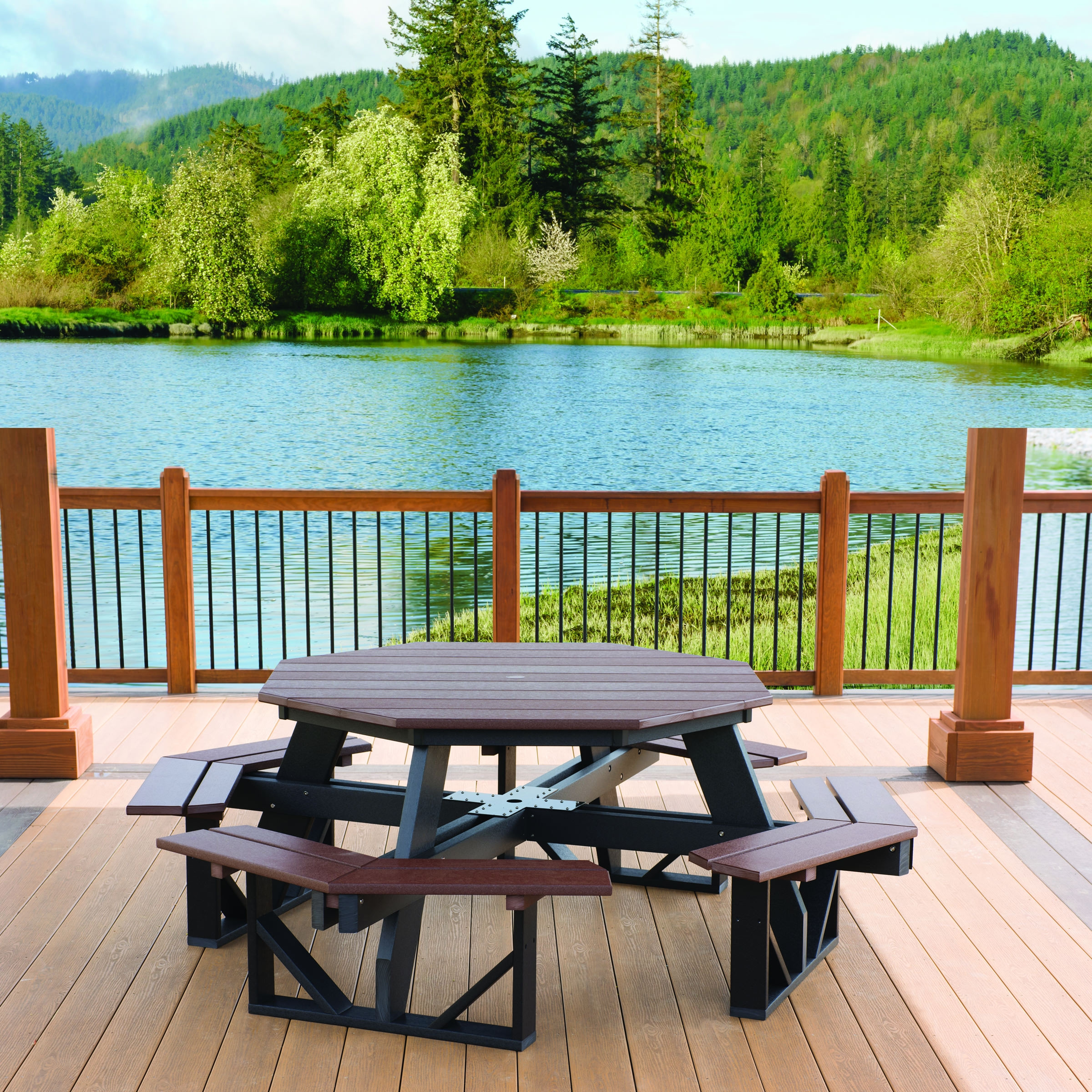 Buy Poly Picnic Table Premium Poly Patios - Composite octagon picnic table
