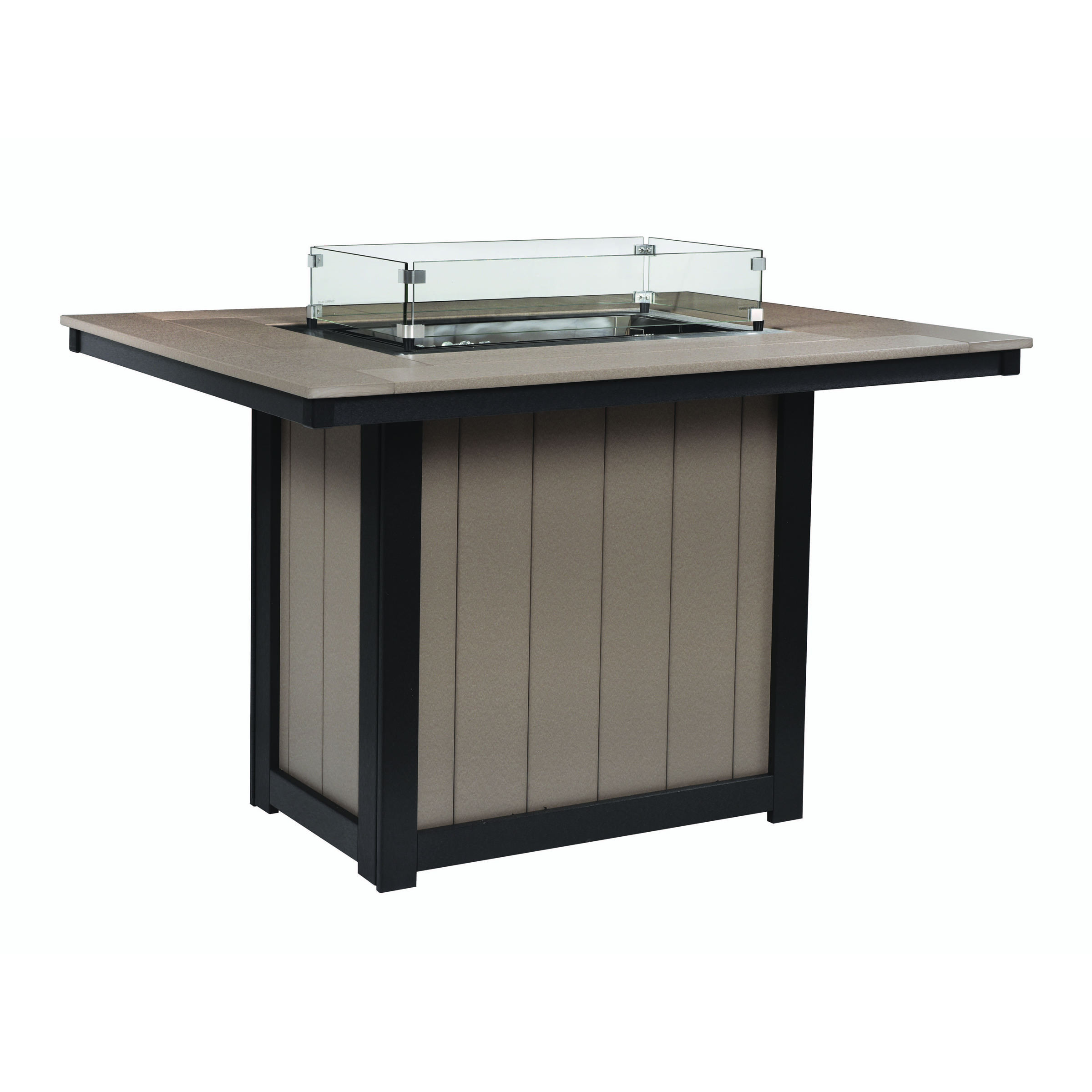 Berlin Gardens Donoma 42 x 54 in Rectangular Fire Counter Table