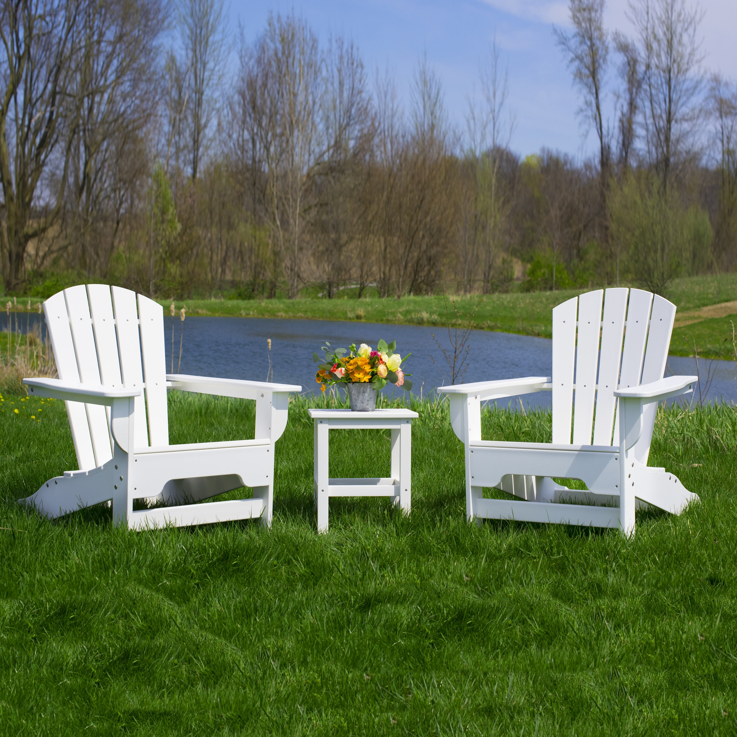 The Boca Raton Adirondack Set by Durogreen Outdoor