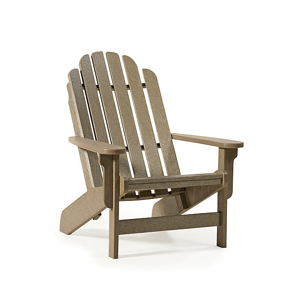 Breezesta™ Quick Ship Shoreline Adirondack Chair Weatherwood