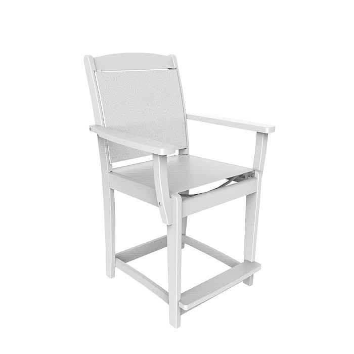 Malibu Outdoor Maywood Sling Counter Arm Chair (Sold in pairs)