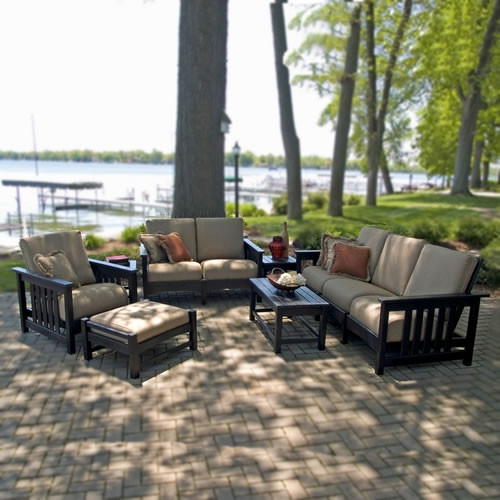 Casual 7 Piece Outdoor Living Set Mission Collection POLYWOOD Outdoor Fu