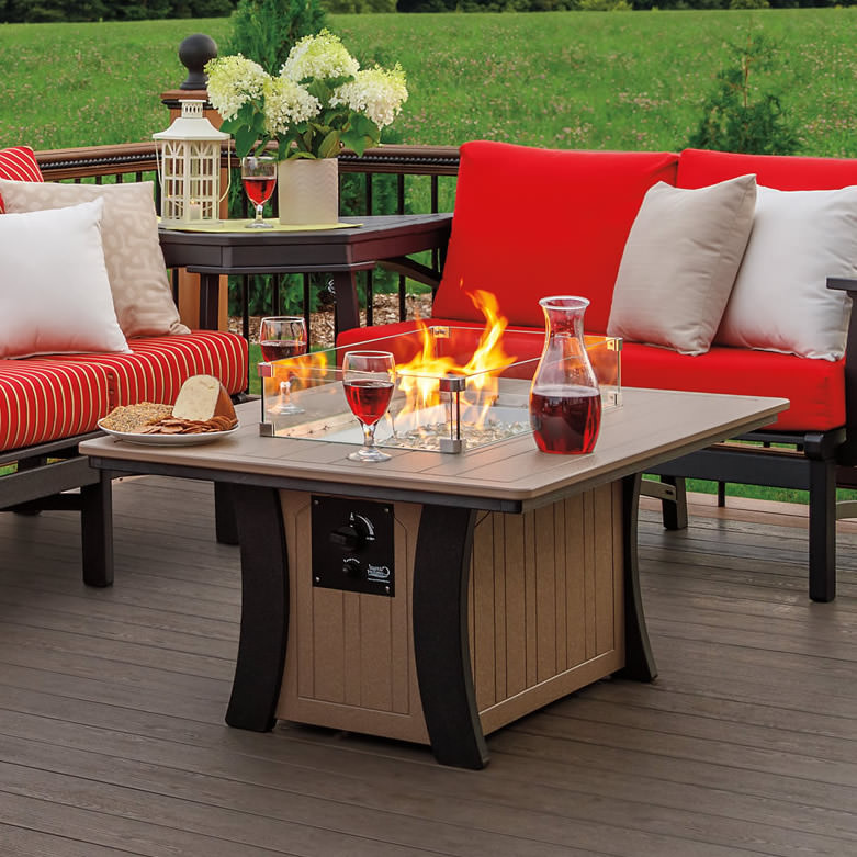 Casual Comfort Bay Shore Rectangle Fire Table