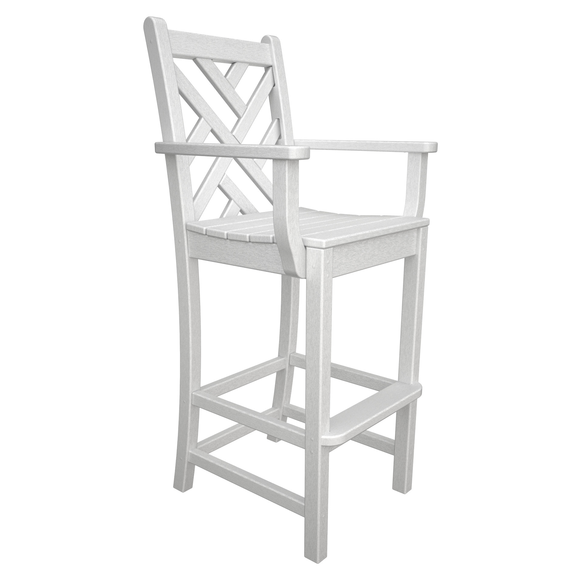 POLYWOOD Chippendale Bar Height Arm Chair