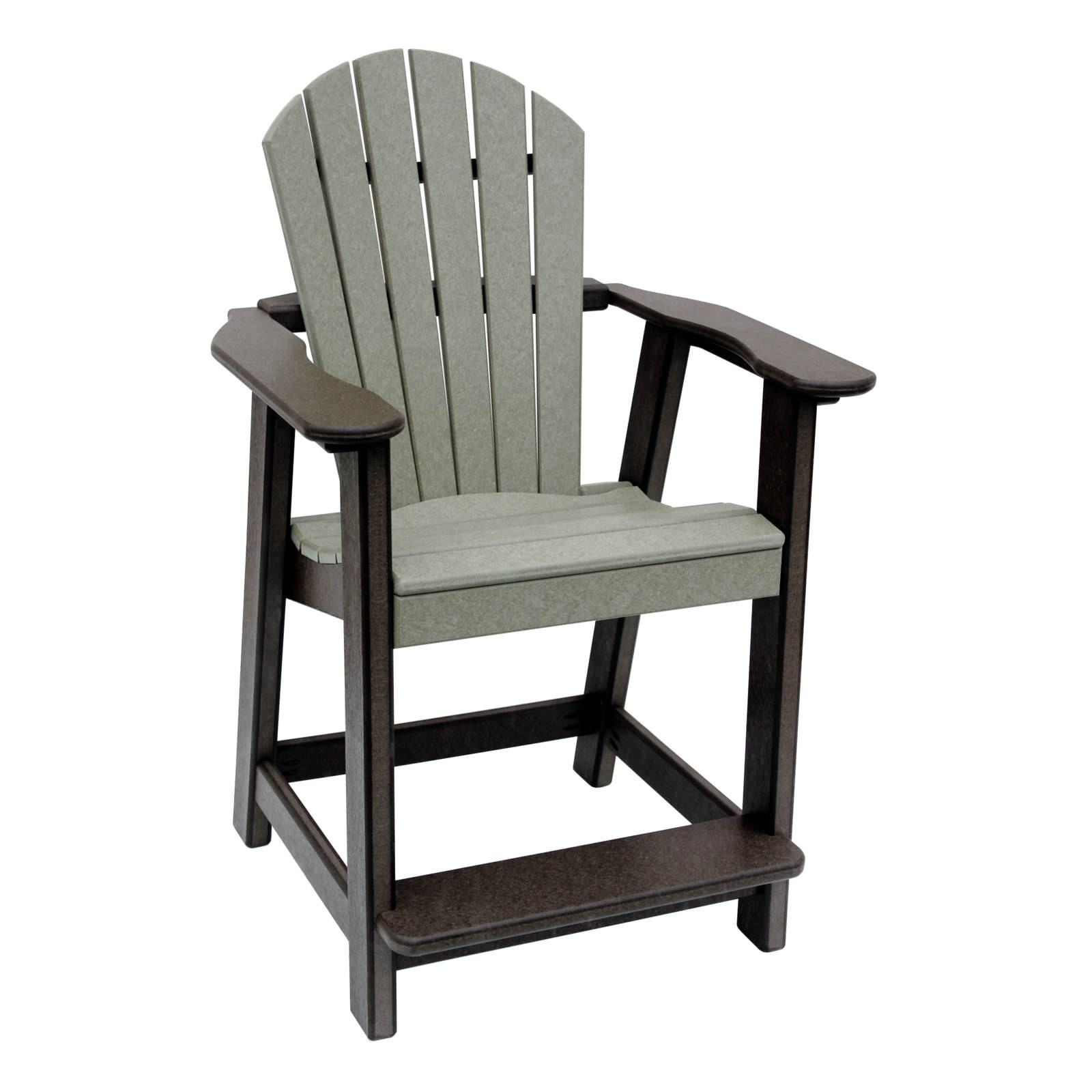 Amish Poly Counter Height Comfy Back Chair