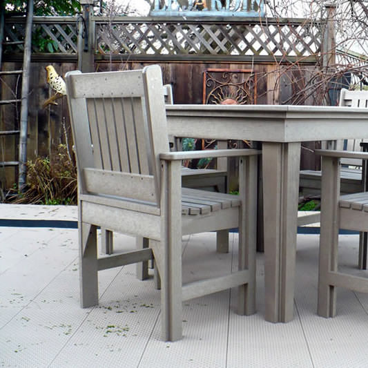 CR Plastics Generations Dining Slat Back Style Arm Chair