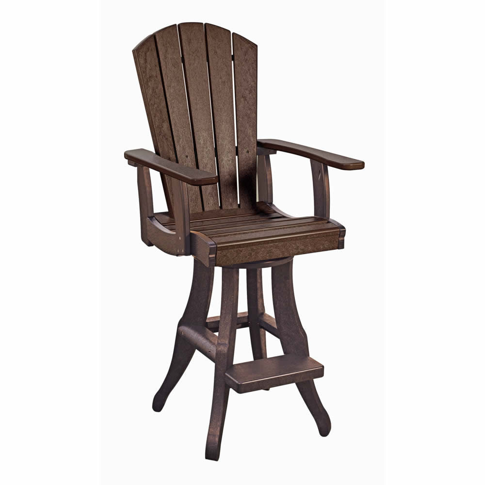 CR Plastics Generations Swivel Arm Pub Chair