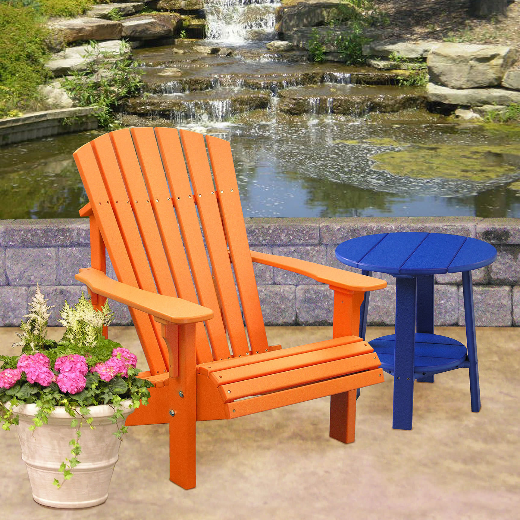 Luxcraft / Crestville® Deluxe Adirondack Chair in Solid Tropical Colors