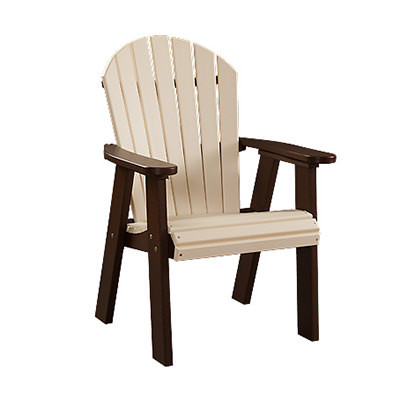 Fanback Poly Dining Arm Chair