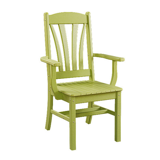 Sunburst Poly Dining Arm Chair