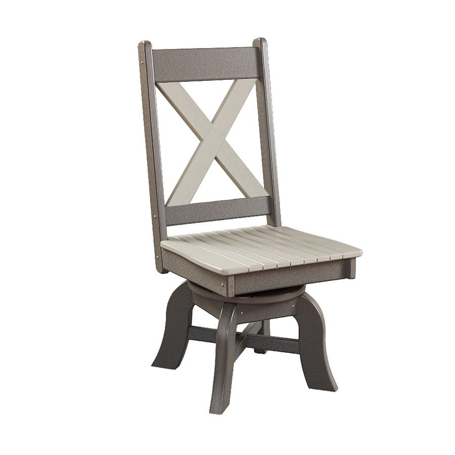 X-Back Poly Swivel Dining Arm Chair