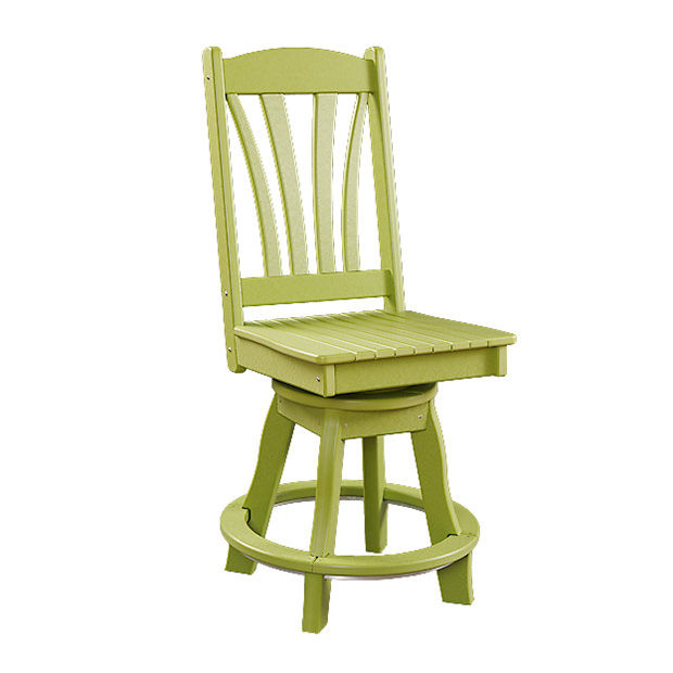 Sunburst Poly Swivel Balcony Side Chair