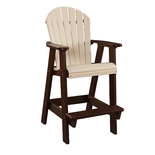 Fanback Poly Patio Arm Chair