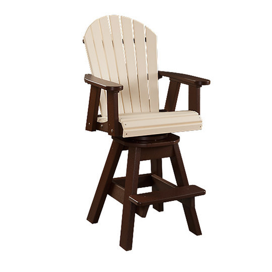 Fanback Poly Swivel Patio Arm Chair