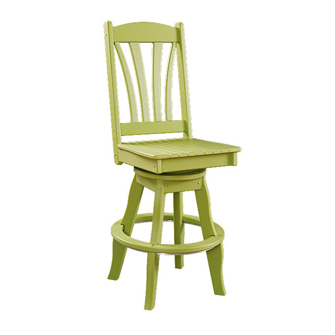 Sunburst Poly Swivel Patio Side Chair