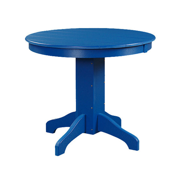 Poly 48in Round Conversation Table