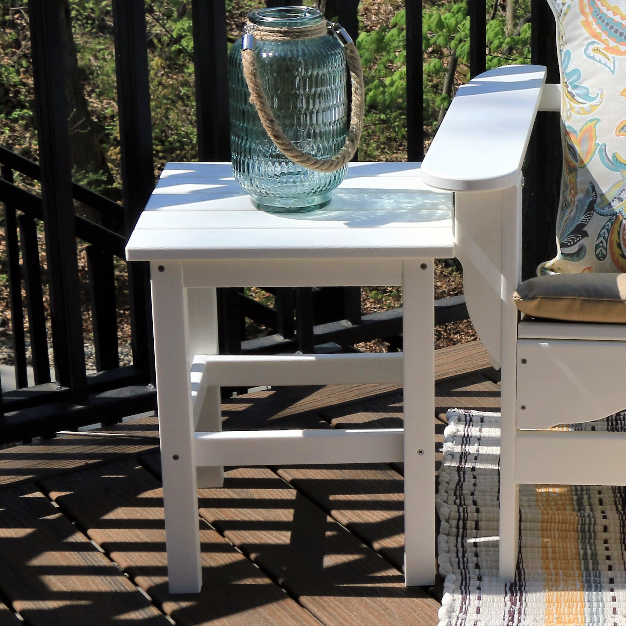 Durogreen 15 in Square Side Table