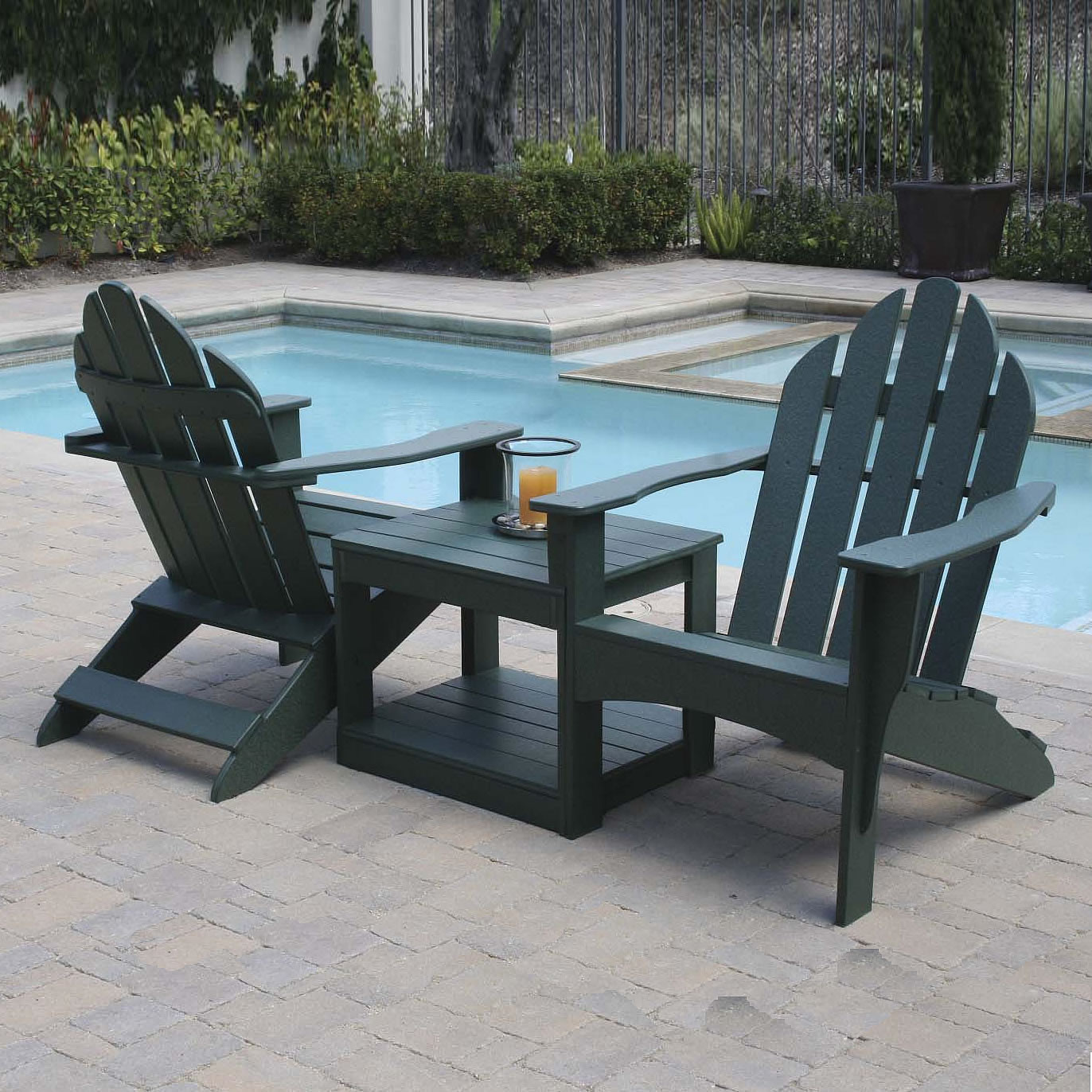 Beau Eagle One   Double Adirondack Chair With Table