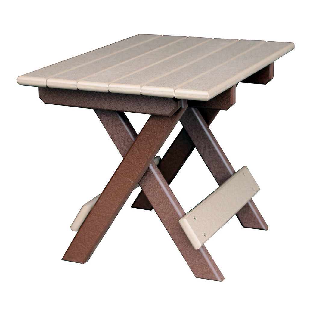 Amish Poly Folding End Table