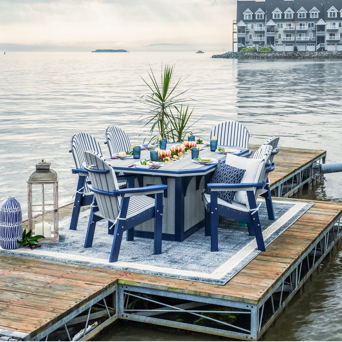 Finch Amish Poly Great Bay Summerside 7 pc Ice Table Dining Set