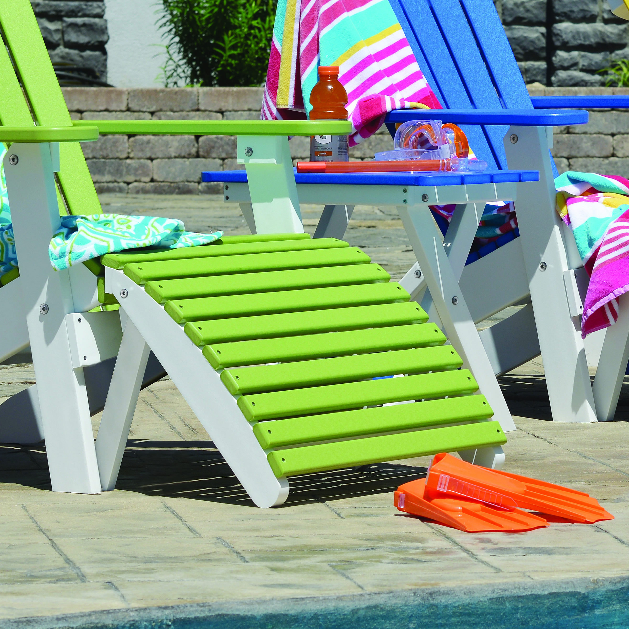 Berlin Gardens Comfo Back Folding Chairs Premium Poly Patios