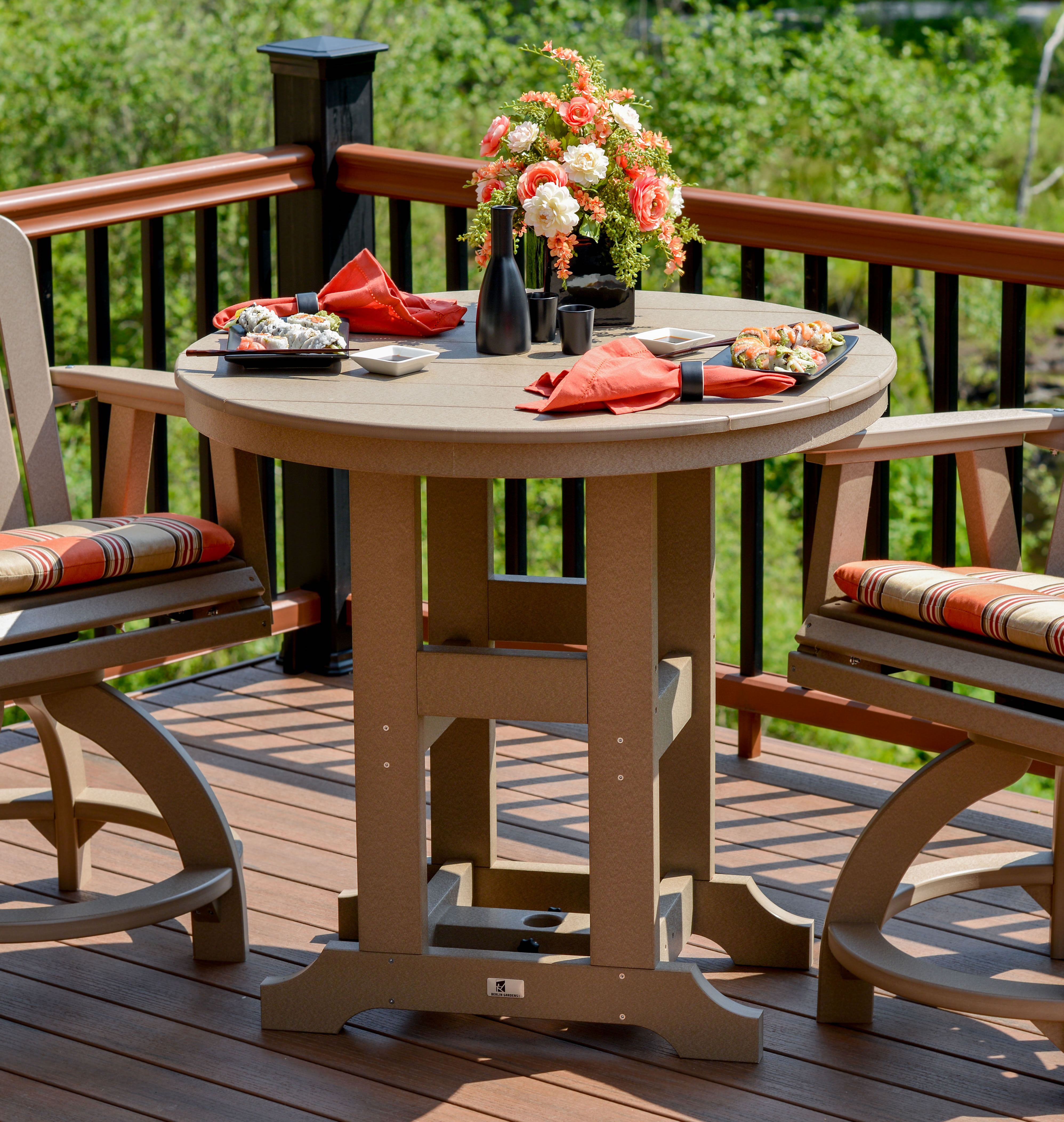 Garden Classic 38 in Round Table - Dining, Counter or Bar Height ...