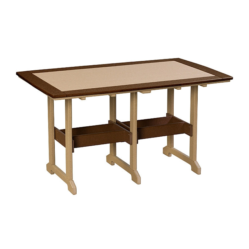 Finch Amish Poly 43in x 72in Great Bay Bar Table