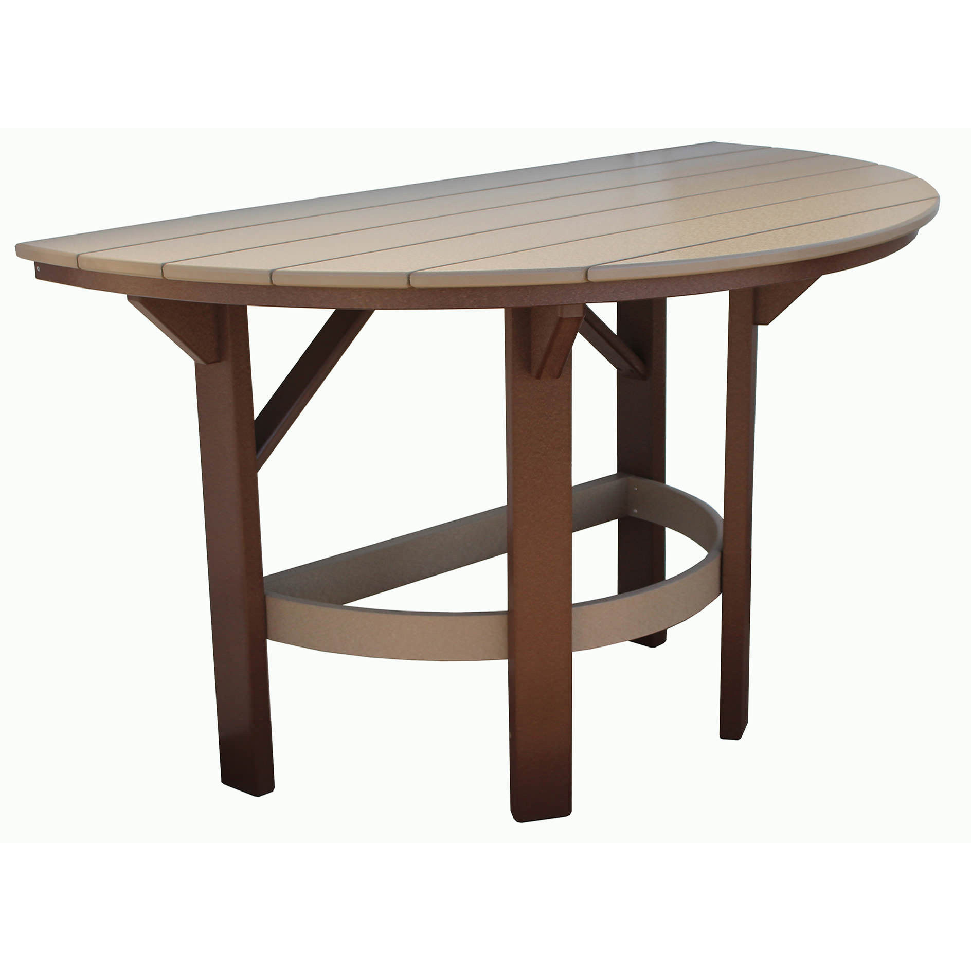 Amish Poly 60in Half Round Counter Table