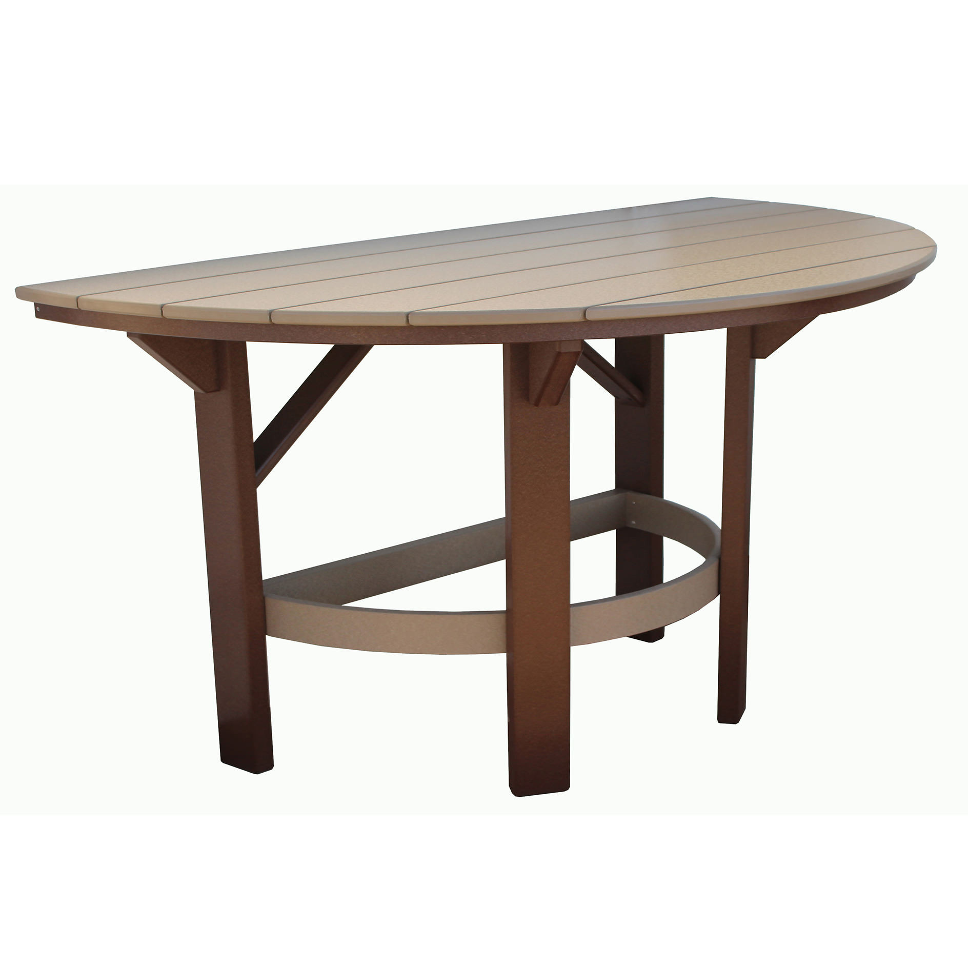 Amish Poly 60in Half Round Dining Table