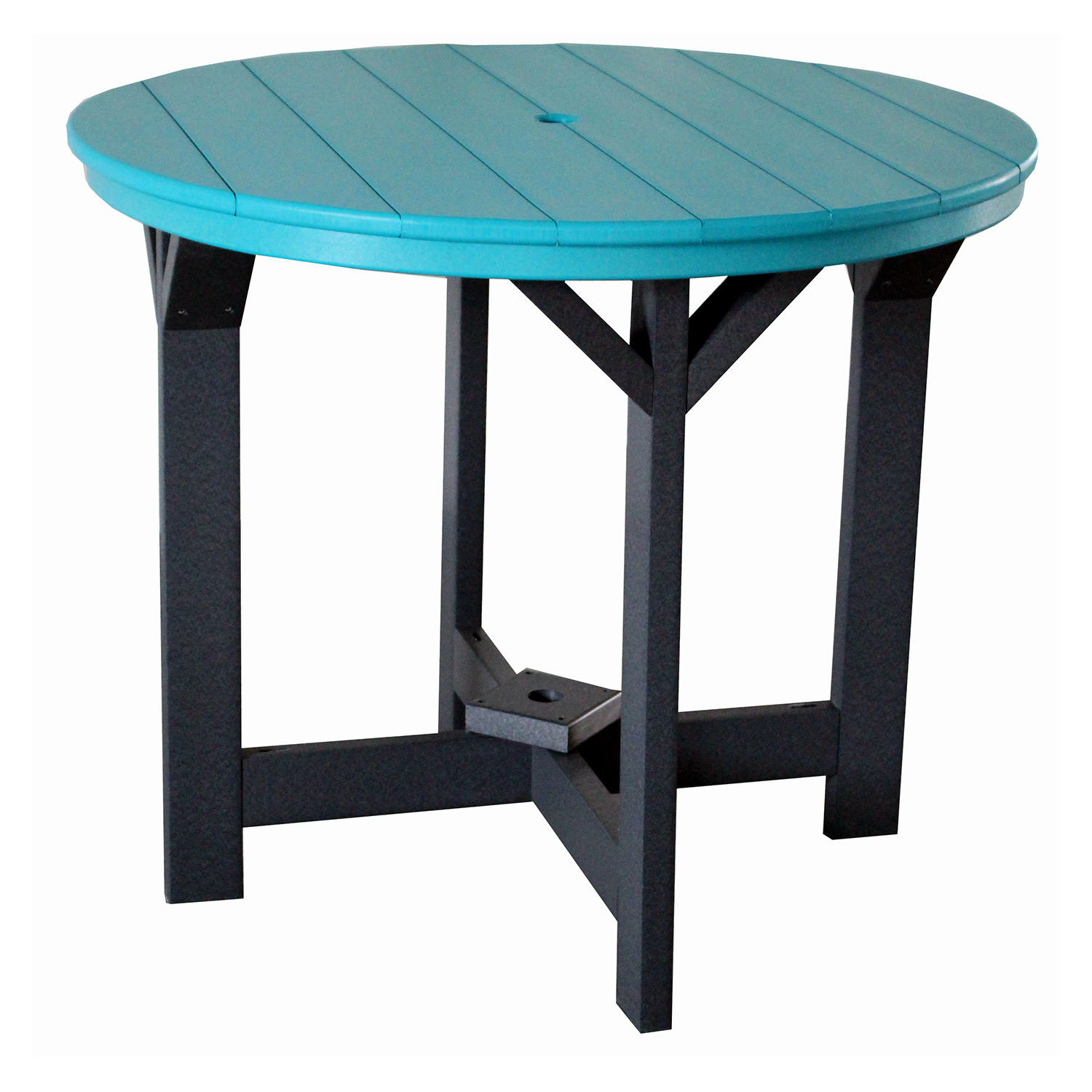 Indiana Amish Poly 42in Round Brookstone Dining Table