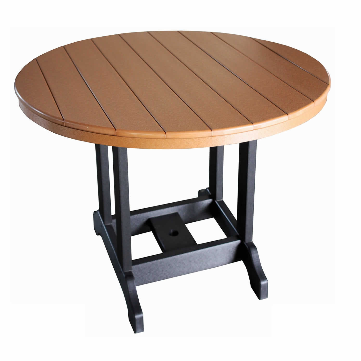 Indiana Amish Poly 48in Round Bar Table