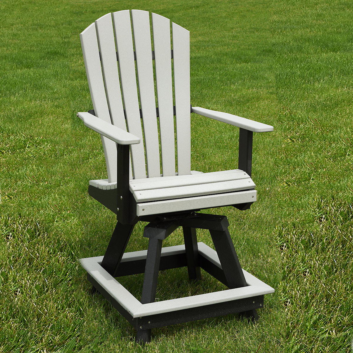 Indiana Amish Poly ComfoWave Swivel Bar Chair