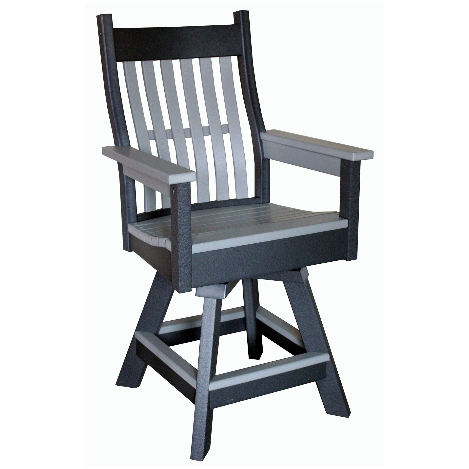 Indiana Amish Poly Rexford Swivel Bar Chair