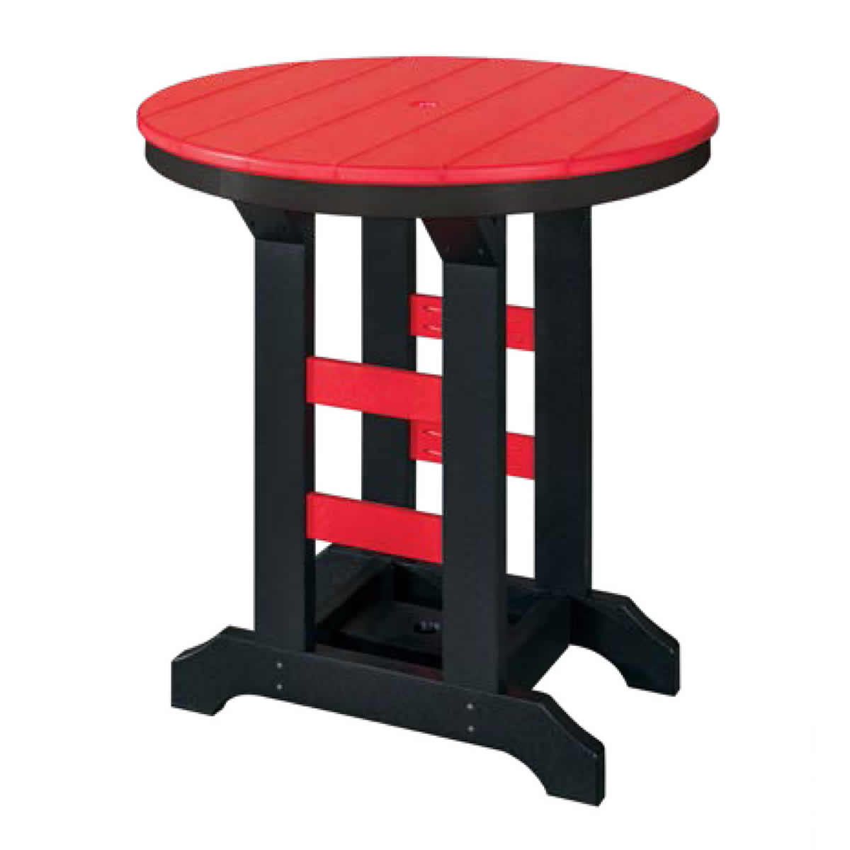 Indiana Amish Poly 36in Round Bar Table