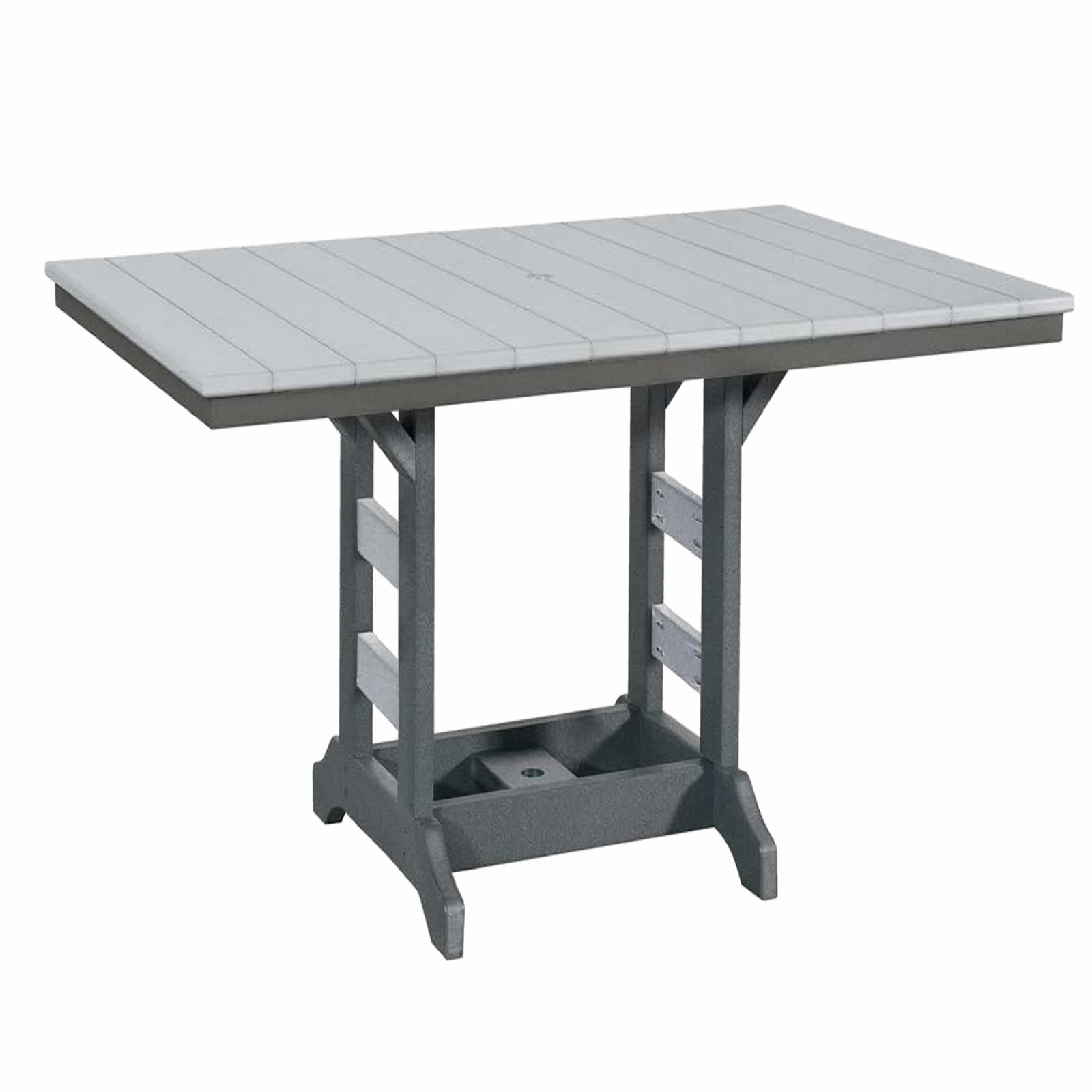 Indiana Amish Poly 42in x 64in Rectangle Bar Table