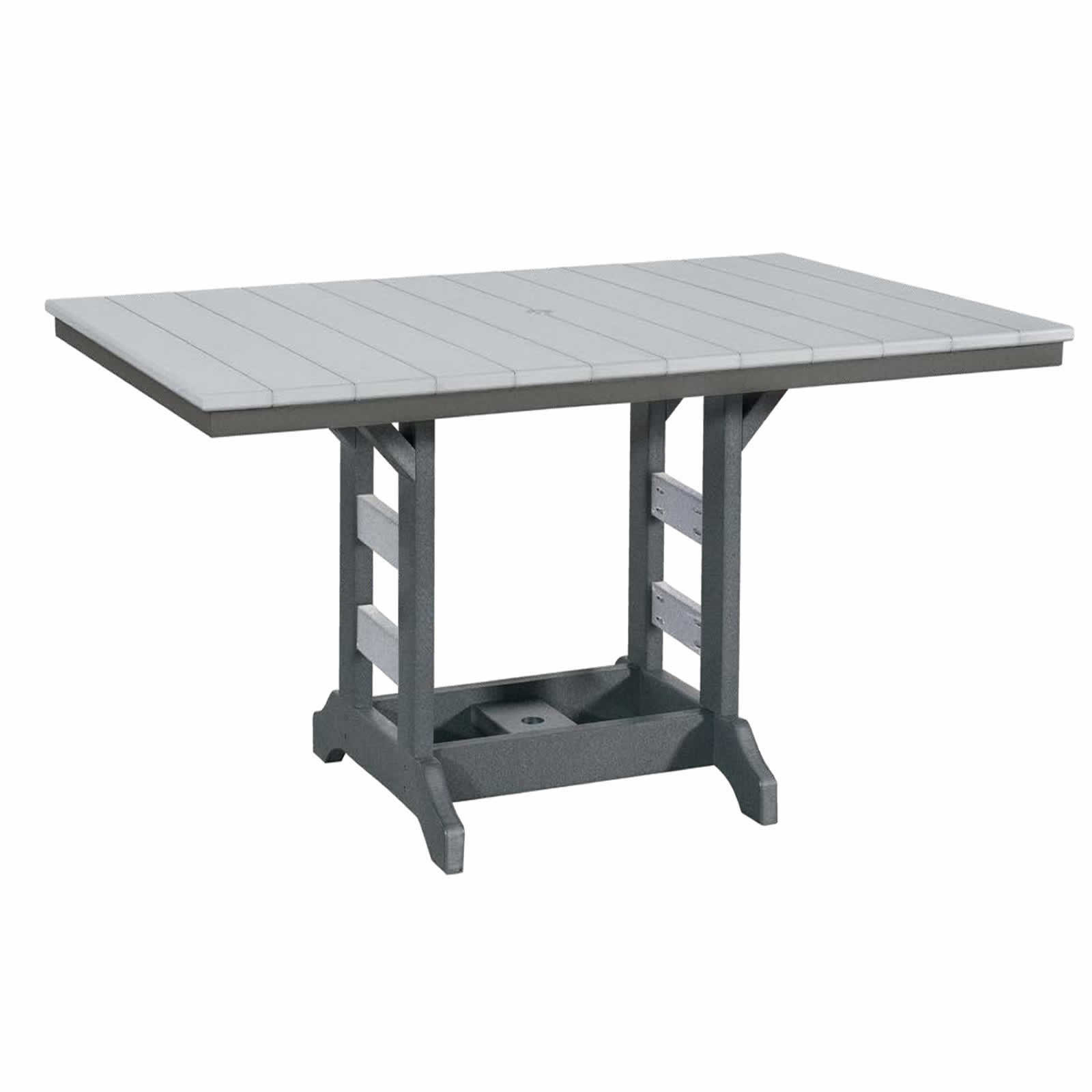 Indiana Amish Poly 42in x 64in Rectangle Balcony Table