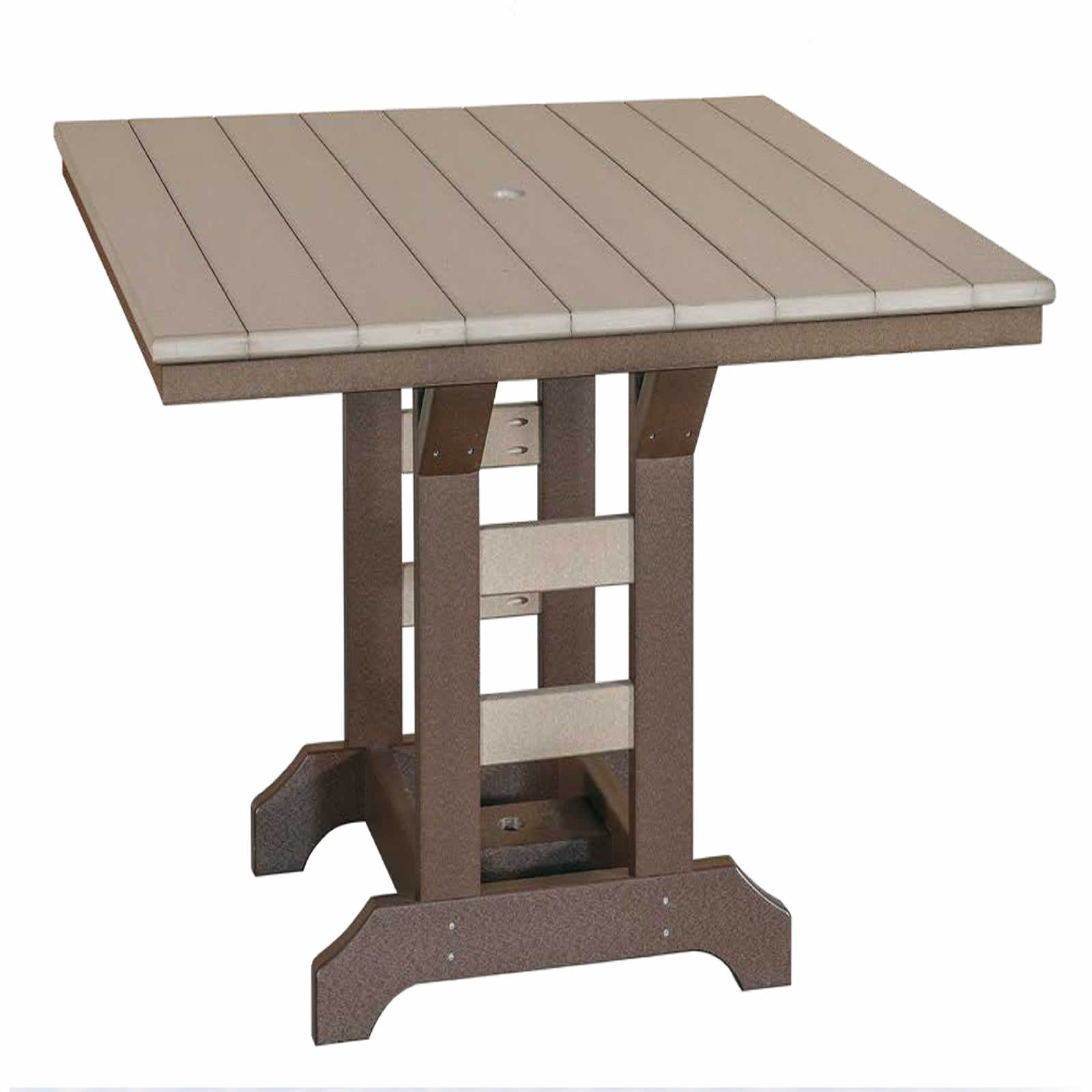 Indiana Amish Poly 48in Square Bar Table