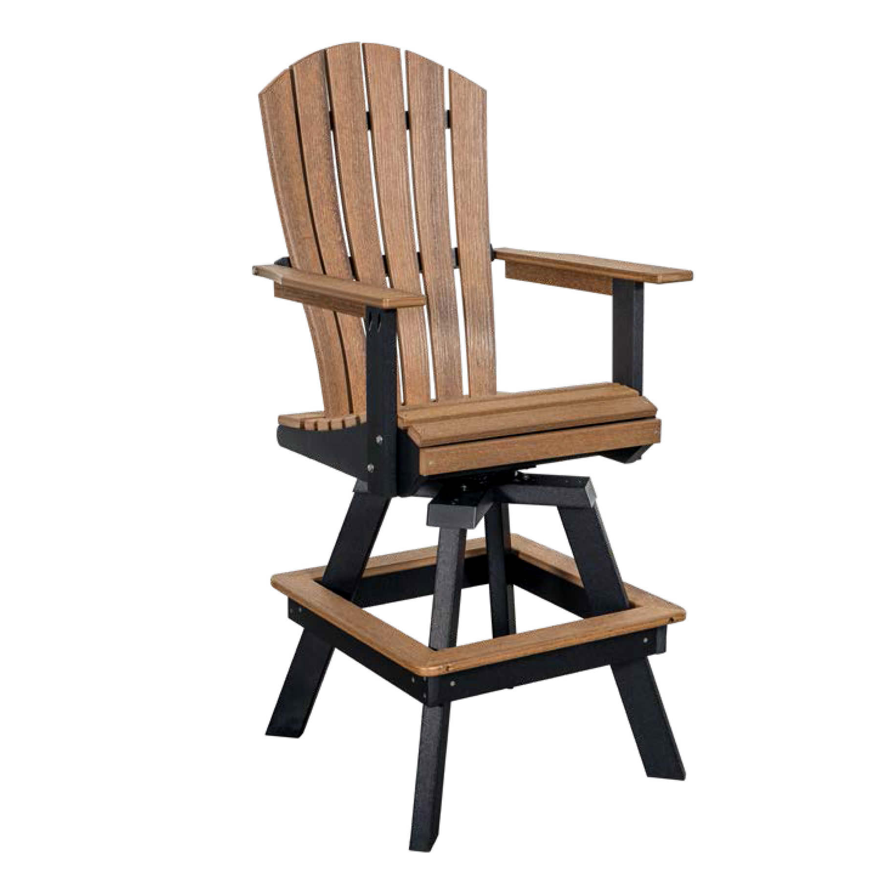 Indiana Amish Poly Swivel Bar Chair