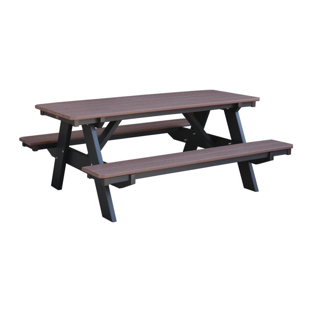 Wildridge Heritage Picnic Table w/Bench Attached
